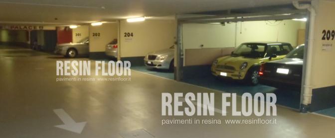 Pavimenti in resina per parcheggi garage o autorimesse resin floor srl - Garage interrato ...