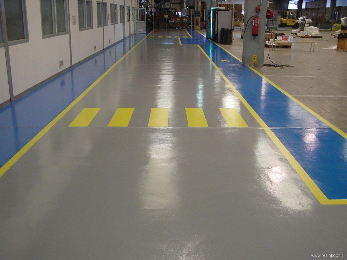 Pavimenti industriali in resina: realizzazioni - Resin Floor srl